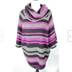 New Directions Cowl Neck Sweater XL Striped